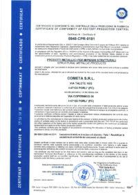 Certificato 0948-CPR-0181